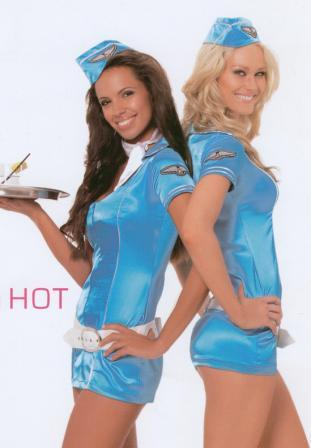 Air Hostess Costumes to hire from Kool 4 Kats