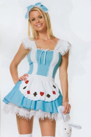 Alice in Wonderland Size 6 - 8 Costume for hire at Kool 4 Kats