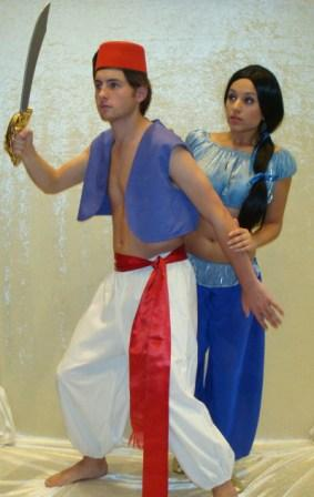 Alladin and Princess Jasmine Costumes for hire at Kool 4 Kats 5/467 Fullarton Rd, Highgate SA 5063 Australia