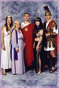 Roman Ladies, Ceasar, Cleopatra, Marc Anthony Kool 4 Kats Costume Hire