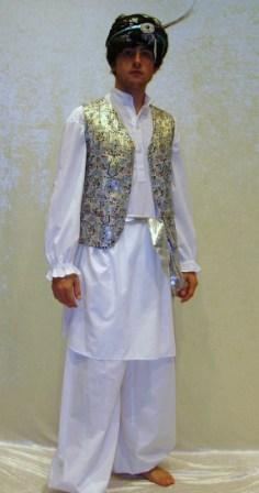 Bollywood Middle Eastern Genie costume for hire at Kool 4 Kats