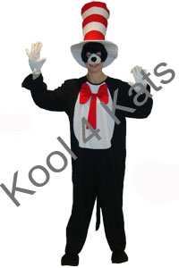 Cat in The Hat Costume for hire at Kool 4 Kats