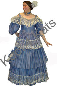 1900's Ballgown Lilac Costume for hire at Kool 4 Kats