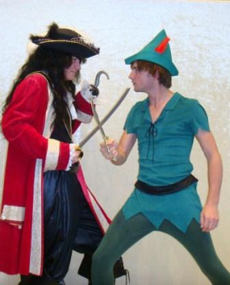 Peter Pan and Captain Hook Costumes for hire at Kool 4 Kats