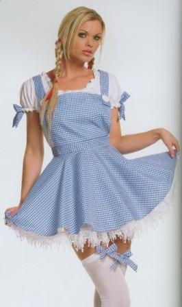Dorothy Sexy Costume for Hire size 12 - 16 at Kool 4 Kats Costume Hire