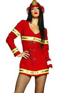 Uniforms Sexy Girl Fire Fighter SIze 8 -10 Costume Hire