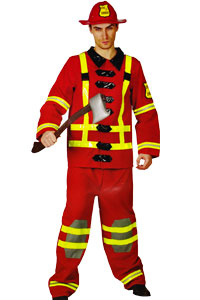 Uniforms Fire Fighter Men's Large - XL Costume Hire