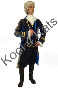 1700 Period Gentleman Blue Costume for hire at Kool 4 Kats