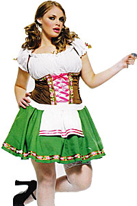 German Girl Gretchen size 14 - 18 costume hire at Kool 4 Kats Costume Shop Adelaide