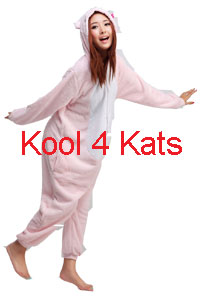 Kool 4 Kats now stocking Onesies for hire - Hello Kitty Pink