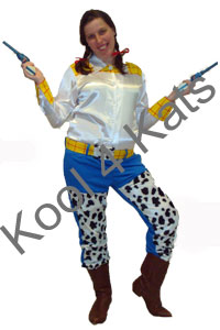 Jessie Cowgirl Costume for hire at Kool 4 Kats