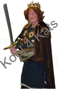 Medieval King Arthur for hire at Kool 4 Kats