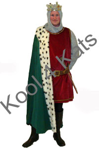 Medieval King Knight Costume for hire at Kool 4 Kats
