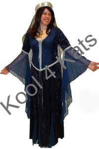 Medieval Lady in Blue for hire at Kool 4 Kats
