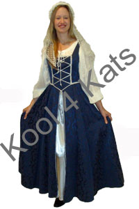 Medieval Lady Costume for hire at Kool 4 Kats