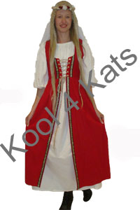 Medieval Maiden in Red for hire at Kool 4 Kats