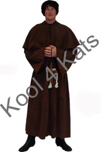 Medieval Monk Friar Tuck for hire at Kool 4 Kats