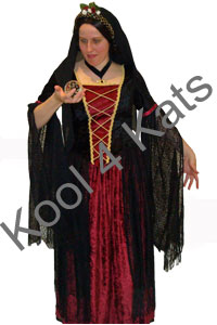Medieval Sorceress Morgana for hire at Kool 4 Kats