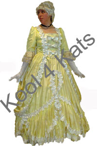 Belle Cinderella 1700's Costume for hire at Kool 4 Kats