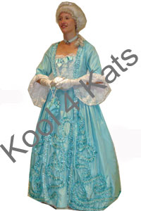 Cinderella Blue 1700's Costume for hire at Kool 4 Kats