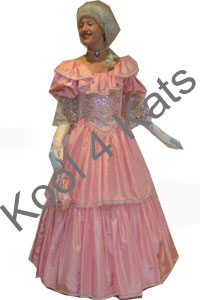 Cinderella Pink 1700's Costume for hire at Kool 4 Kats