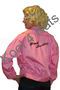 1950's Pink Ladies Jackets for hire at Kool 4 Kats