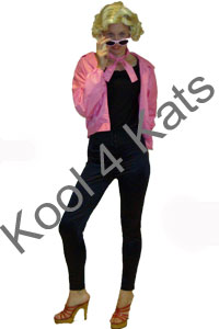 1950's Pink Ladies Grease Costumes for hire at Kool 4 Kats