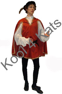 Renaissance Bard Page Costume for hire at Kool 4 Kats