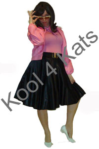1950's Pink Lady Rock'n'Roll Costumes for hire at Kool 4 Kats