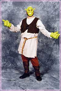 Shrek Costume for hire at Kool 4 Kats