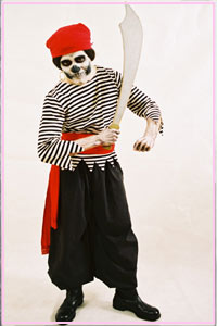 Skeleton Pirate Kool 4 Kats Costume Hire