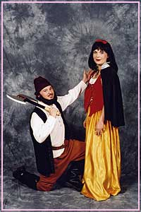 Snow White and Dwarf Traditional costumes available for hire at Kool 4 Kats