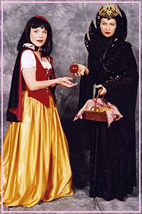 Snow White and the Evil Step Mother costumes available for hire at Kool 4 Kats
