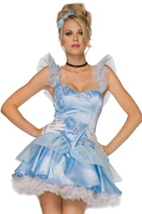 Cinderella Sexy Costume size 10 - 12 for hire at Kool 4 Kats Costume Shop Adelaide