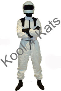 The Stig Racing Car Driver Costume for hire at Kool 4 Kats