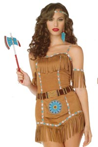 Pocahantas or Tiger Lily Costume size 8 - 10 available for hire at Kool 4 Kats